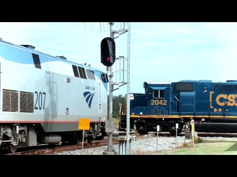 Amtrak & CSX Trains Dangerous Diamond Interlockings