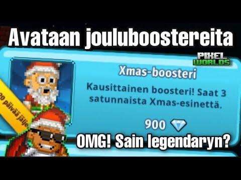 Download SAIN LEGENDARY?! Avataan Xmas-boostereita! 😱 *OMG* Pixel Worlds Suomi