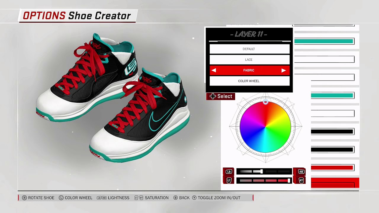 NBA 2K18 Shoe Creator - Nike LeBron 7