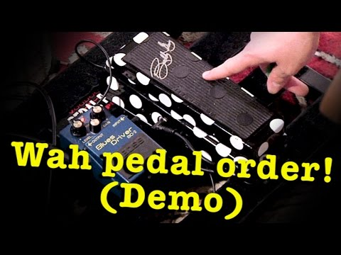 Wah Pedal Placement: before or after gain? - High Quality Demo!