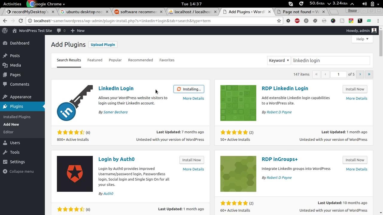 WordPress LinkedIn Login Installation Instructions