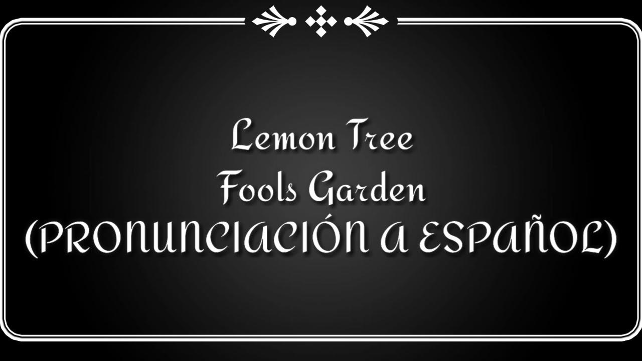 Lemon Tree Fools Garden Pronunciación A Español Youtube
