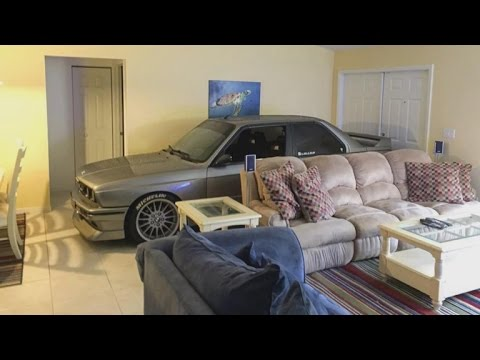 Car-Obsessed Man Parks Vehicle In Living Room During Hurricane Matthew