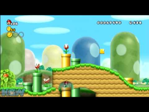 New Super Mario Bros Wii Star Coin Location Guide World 1 3