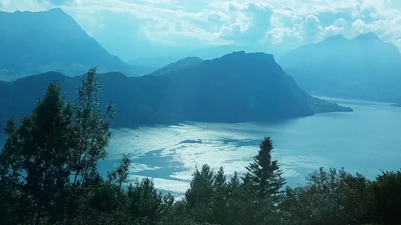 lake luzern mt rigi train ride switzerland youtube