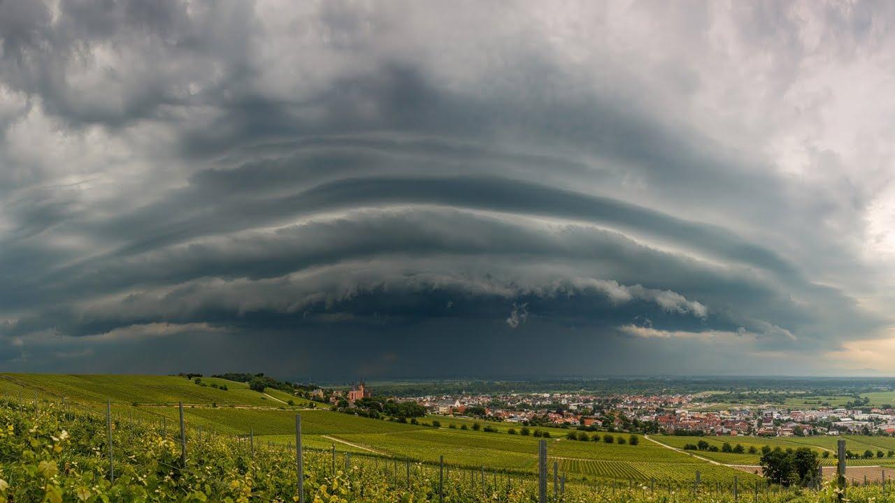 Starkes Gewitter Mit Shelf Cloud 252 Ber Dem Rheingraben 05