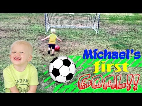 Michael Scores His First GOAL!!