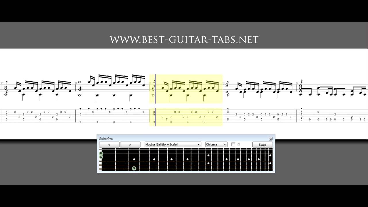 Inception Time Guitar Solo Sheet Music And Tabs