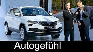 Skoda Karoq World Premiere REVIEW Exterior/Interior all-new SUV neu Yeti successor