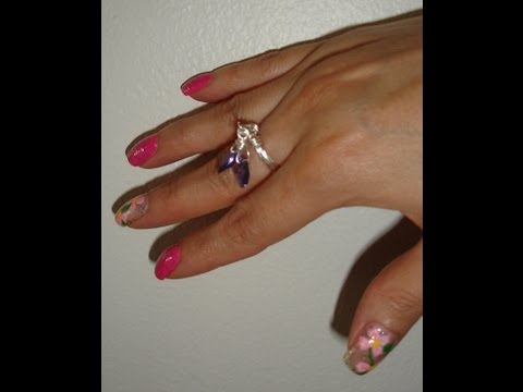 Wirewrap Ring Falling Hearts Ring, handmade jewelry by Mariel.