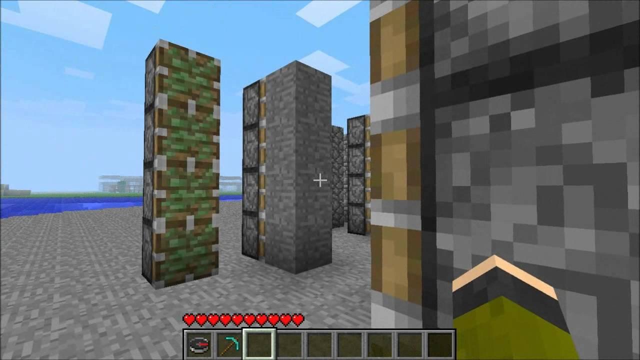 Minecraft Castle Gate Door Tutorial With Pistons Youtube