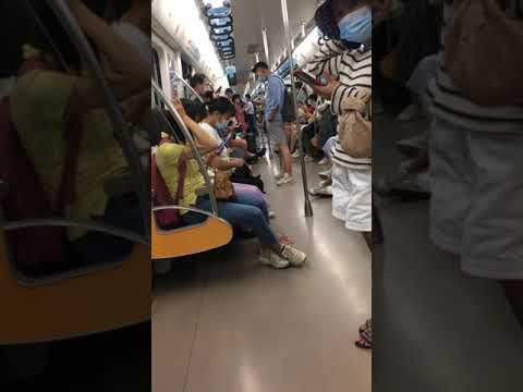 The Daily Life in China—All people are Doing One Thing on the Subway,地铁上大家都在做同一件事