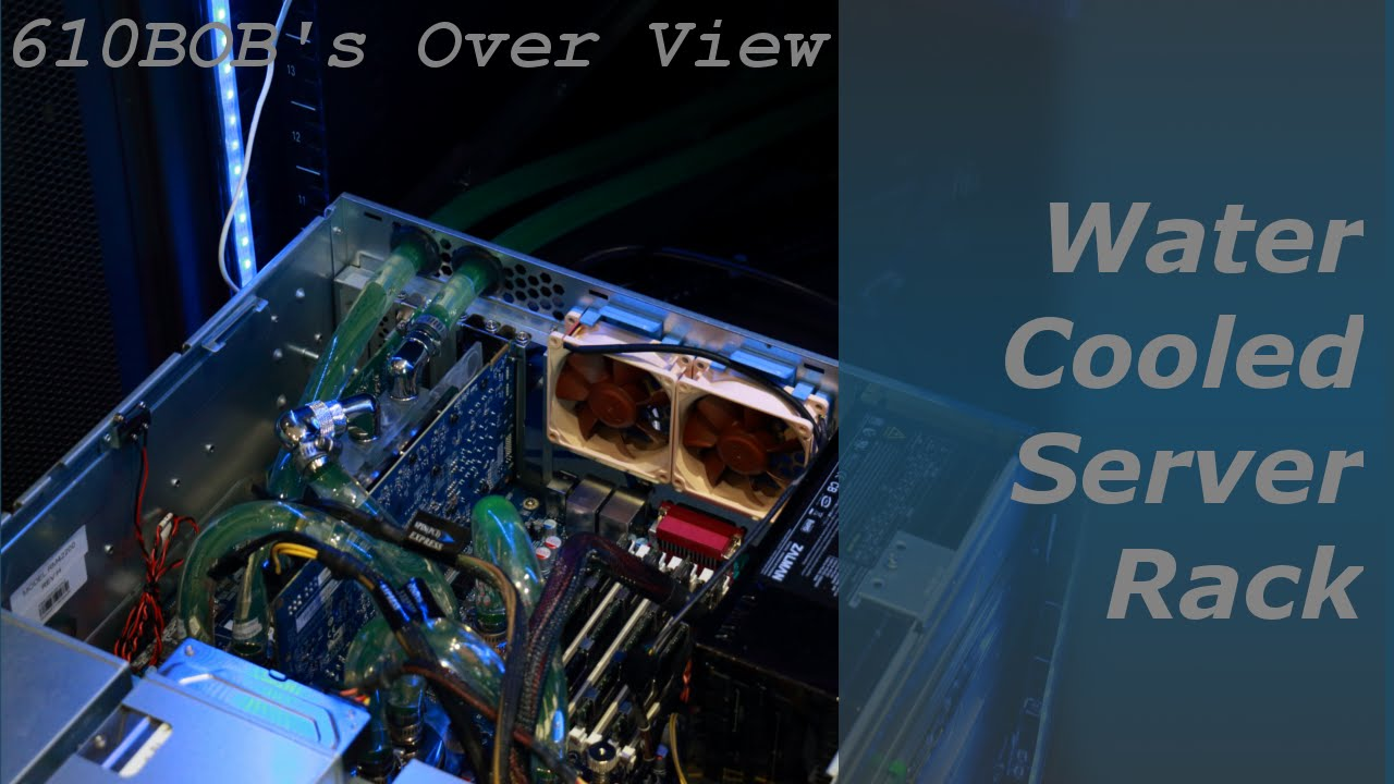 610bob S Overview Water Cooled Server Rack Youtube