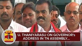 U.Thaniyarasu on Governor