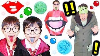 ★「魔法学校にチュッチュマンがやってきた~!」モンスタースタンプ!★Harry potter&Monster stamp candy★