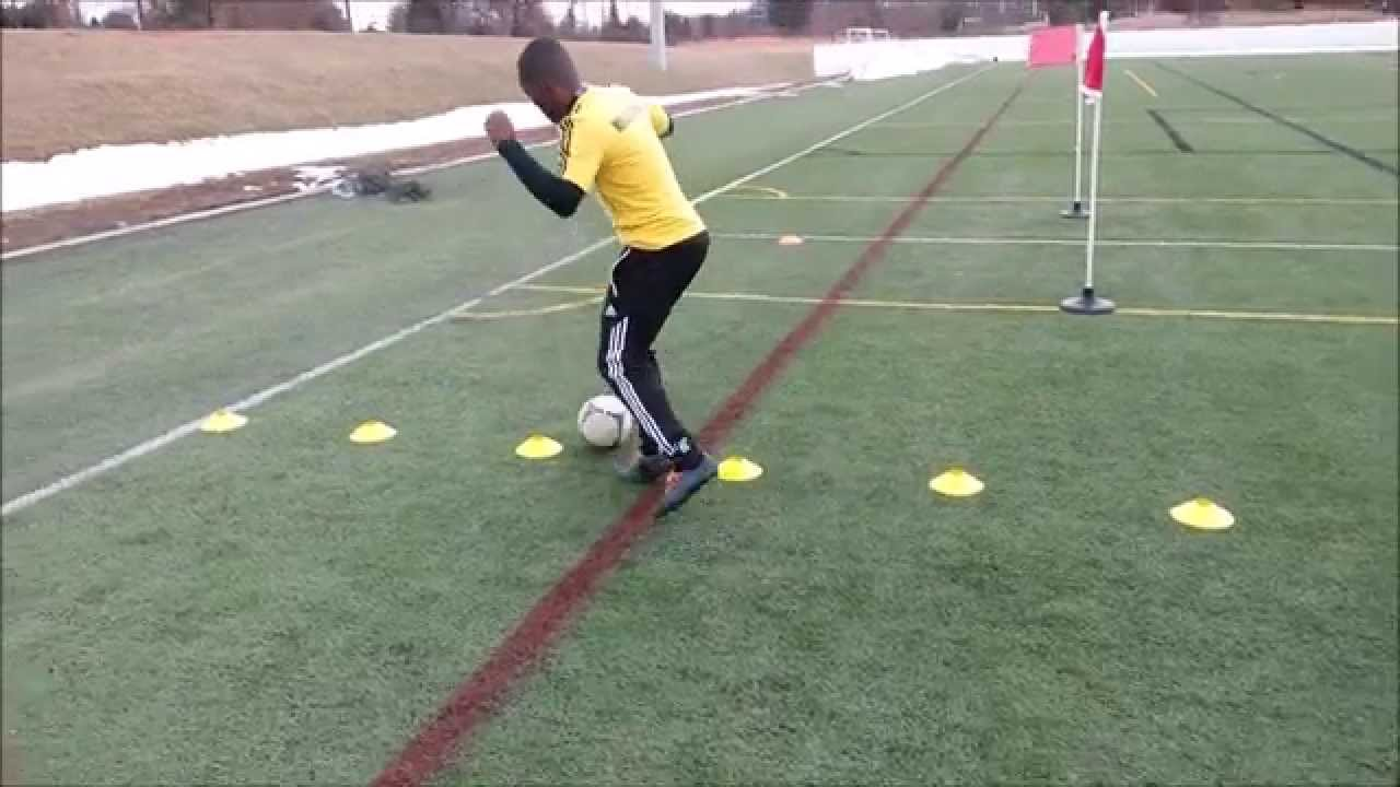 Soccer Drill: Cone drills to improve ball control and dribbling ...
