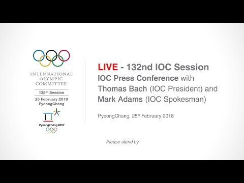 IOC Press Conference, with Thomas Bach (IOC President), Mark Adams (IOC Spokesman)