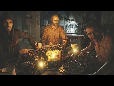 Resident Evil 7 - Dinner Scene + Jack Fight
