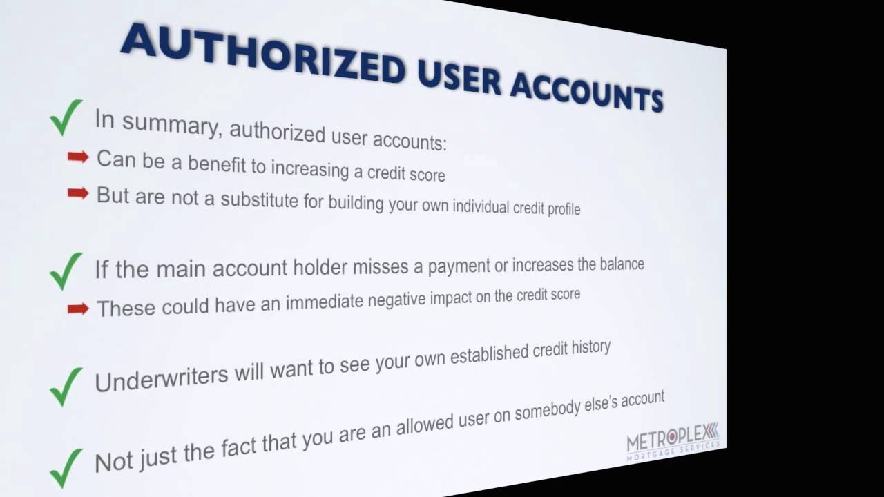 How Do Authorized User Accounts Affect Your Usda Qualifying?