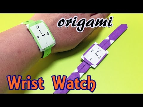 Origami Wrist Watch easy but cool   Childrens Craft Paper Watch   Origami For Kids