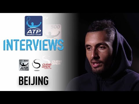 Kyrgios Reacts To Victory In Beijing Second Round 2017
