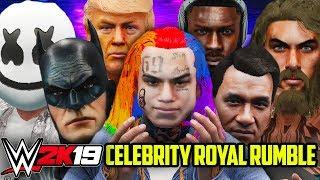 WWE 2K19 - 30 MAN CELEBRITY ROYAL RUMBLE!!