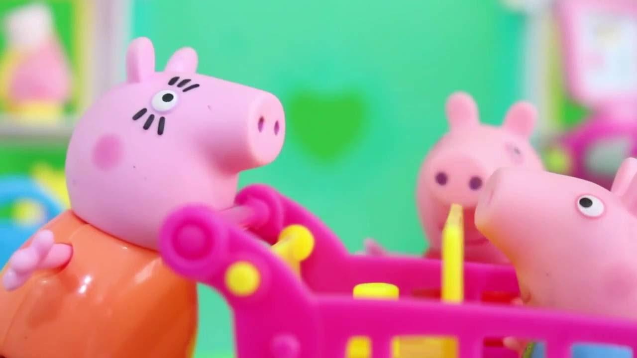 Pig George Da Familia Peppa Pig Vai Ao Supermercado De Shopkins Em