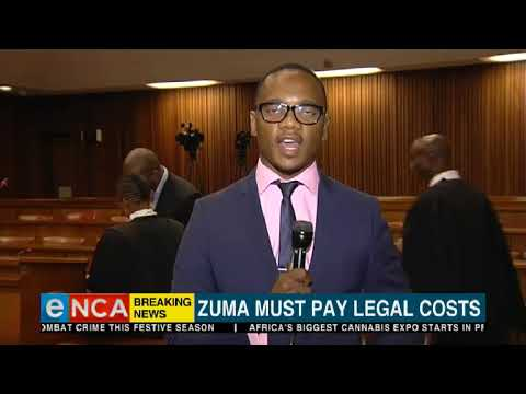 Zuma ordered to pay legal costs