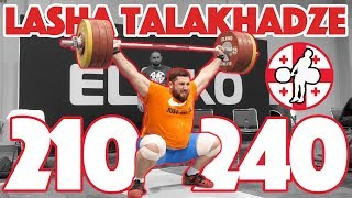 Lasha Talakhadze Heavy Training Part 2/3 (210 Snatch + 240 Clean and Jerk)