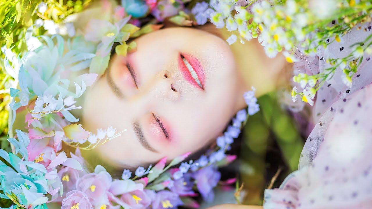 百花仙子夢幻妝容教學,戴上百花鈴蘭頭飾,美呆了! | 雁鸿Aimee