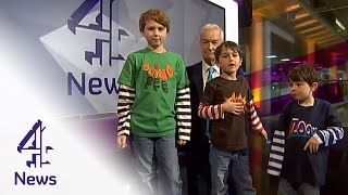 Charlie bit my finger... Channel 4 News takeover!