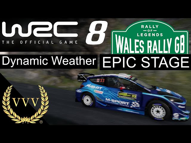 WRC 8 - Wales Rally Epic Stage Dynamic Weather