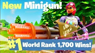 One of AlexRamiGaming's most viewed videos: #1 World Ranked - 1,700 Solo Wins -  New Minigun Update