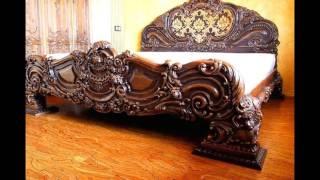 Резная мебель из дерева. Обалденной красоты мебель из дерева.