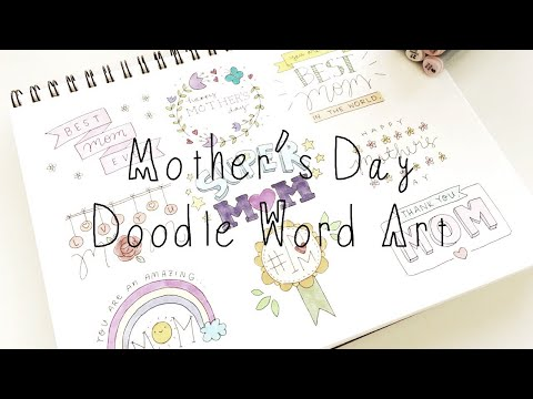 Mother's Day Doodle Word Art (Doodle Words)   Doodles by Sarah