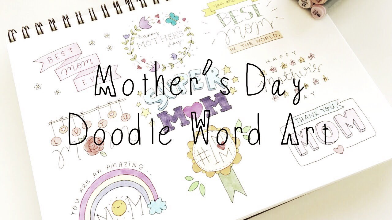 Mother S Day Doodle Word Art Doodle Words Doodles By