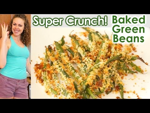 healthy-snacks-&-weight-loss-tips:-super-crunch!-baked-green-beans,-vegetarian-health-food