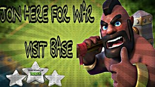 Live *LOOT* Base Visit | wcl Live War | OR Jaan Bhi Lelo • clash of clans