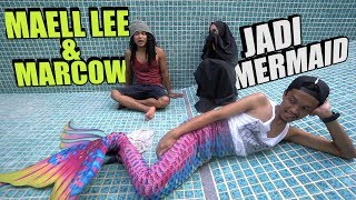 MAELL LEE & MARCOW JADI MERMAID SEHARIAN! Mermaid Terkuat Di Bumi😱