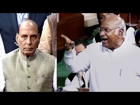 Rajnath, Kharge lock horns over PM Modi's absence in Lok Sabha