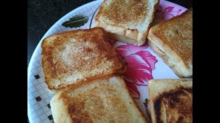 Daily Breakfast Bread Sandwich In Kadai - Bread Butter Recipe In Tawa