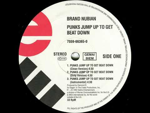 Brand Nubian  Punks Jump Up To Get Beat Down Dirty 12 Version 1992 HD Audio