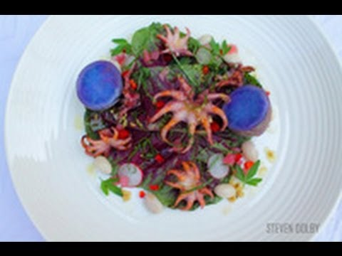 Grilled Baby Octopus With Spring Salad Recipe