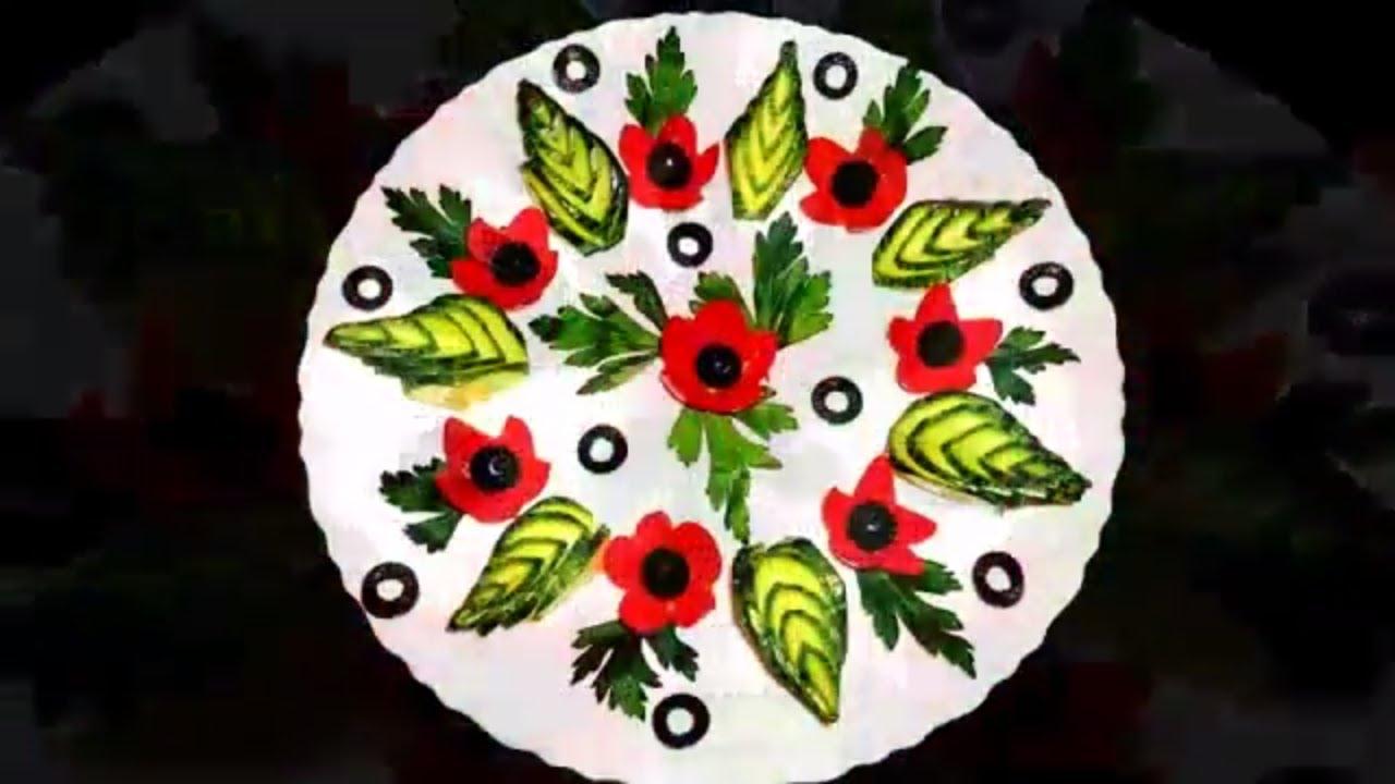 Cucumber Food Ideas Food Plate Decoration Ideas By Garhwali Chef