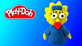 How to make Play Doh Baby Maggie Simpson Play-Doh Craft N Toys
