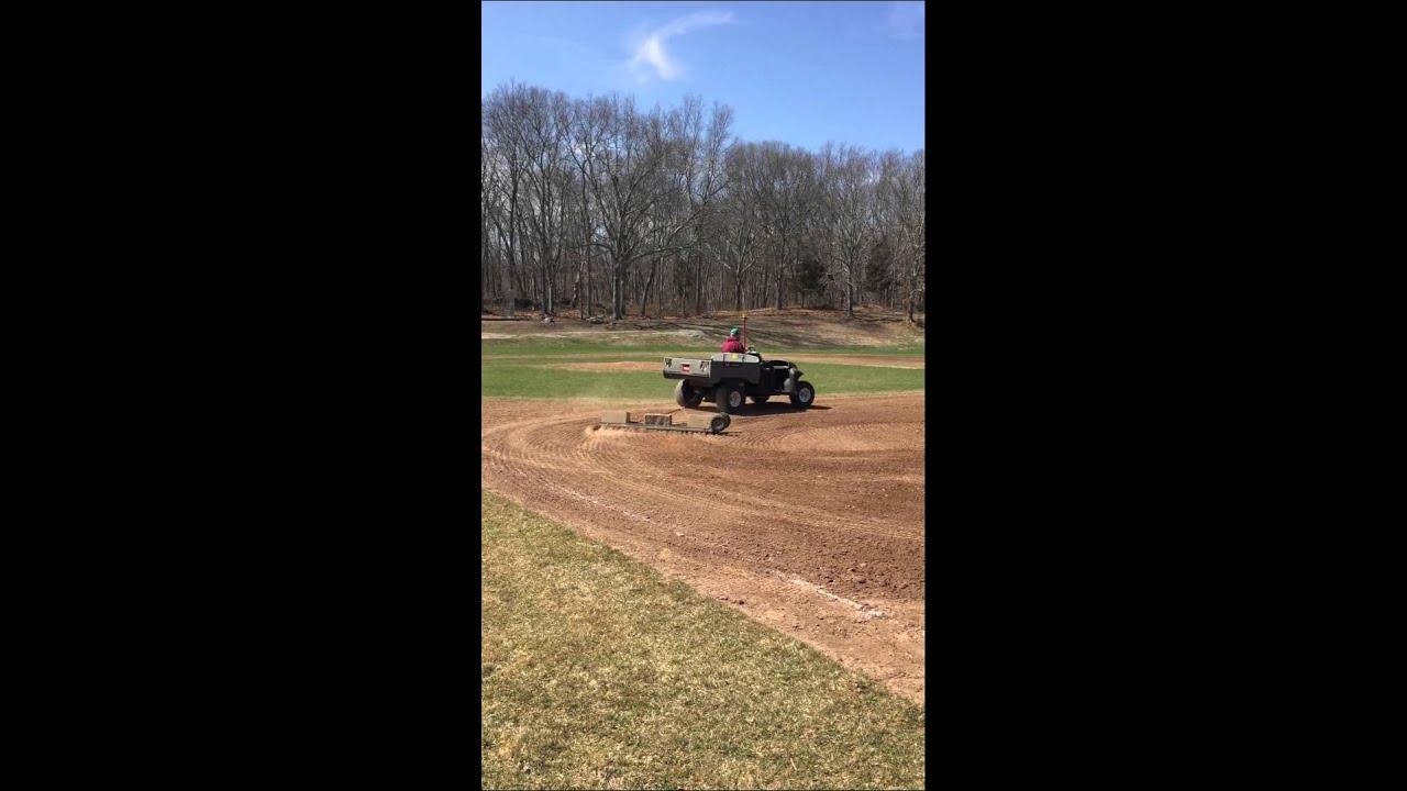 Nail Dragging Vet\u0027s infield - YouTube