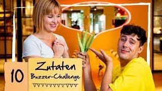 Sandra und CrispyRob - Die Käsechallenge | 10 Zutaten Buzzer Challenge