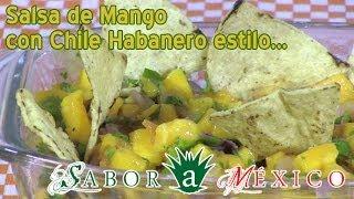 Salsa De Mango Con Habanero