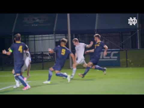 Watch Highlights as #7 Notre Dame Men's Soccer defeats #24 Michigan