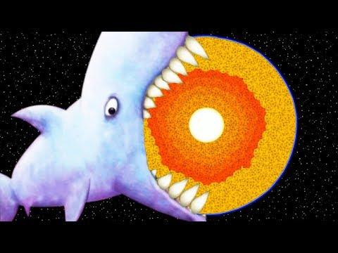 МАЛЕНЬКАЯ РЫБКА Tasty Blue #18 Самая Большая Акула проглотила Землю и золотую рыбку с дельфином